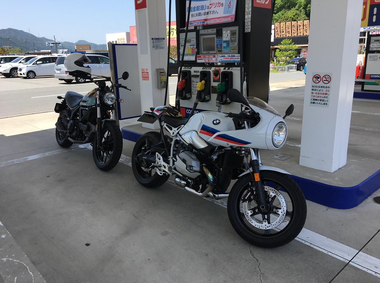 ツーリングの前には、ガソリン補給