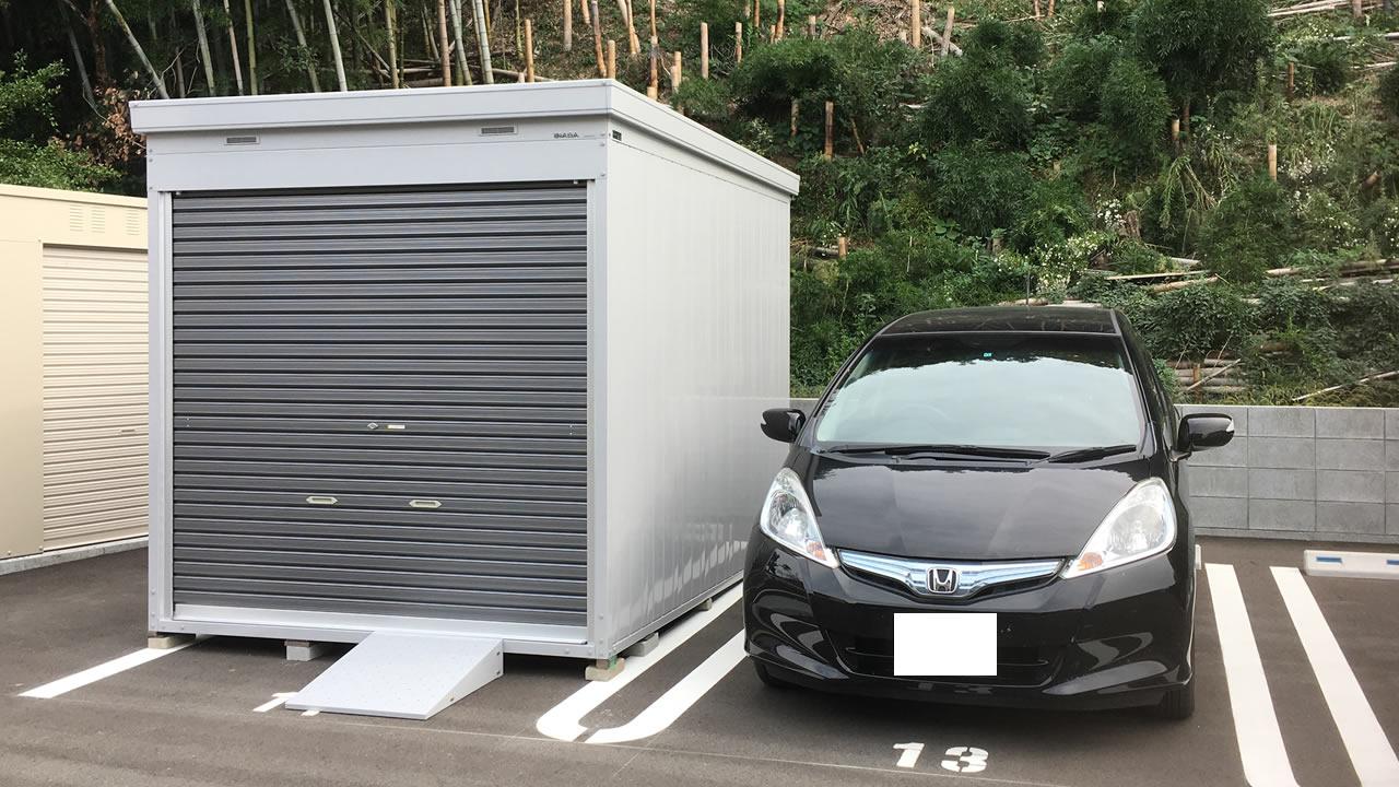 イナバ・バイク保管庫(FXN-2230HY)を岡山県倉敷に設置