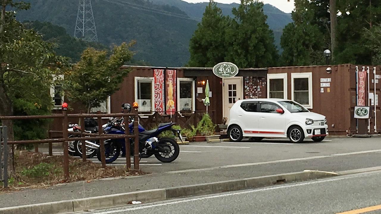 篠山のバイクカフェ「我風(がふう)」さんの前を通過