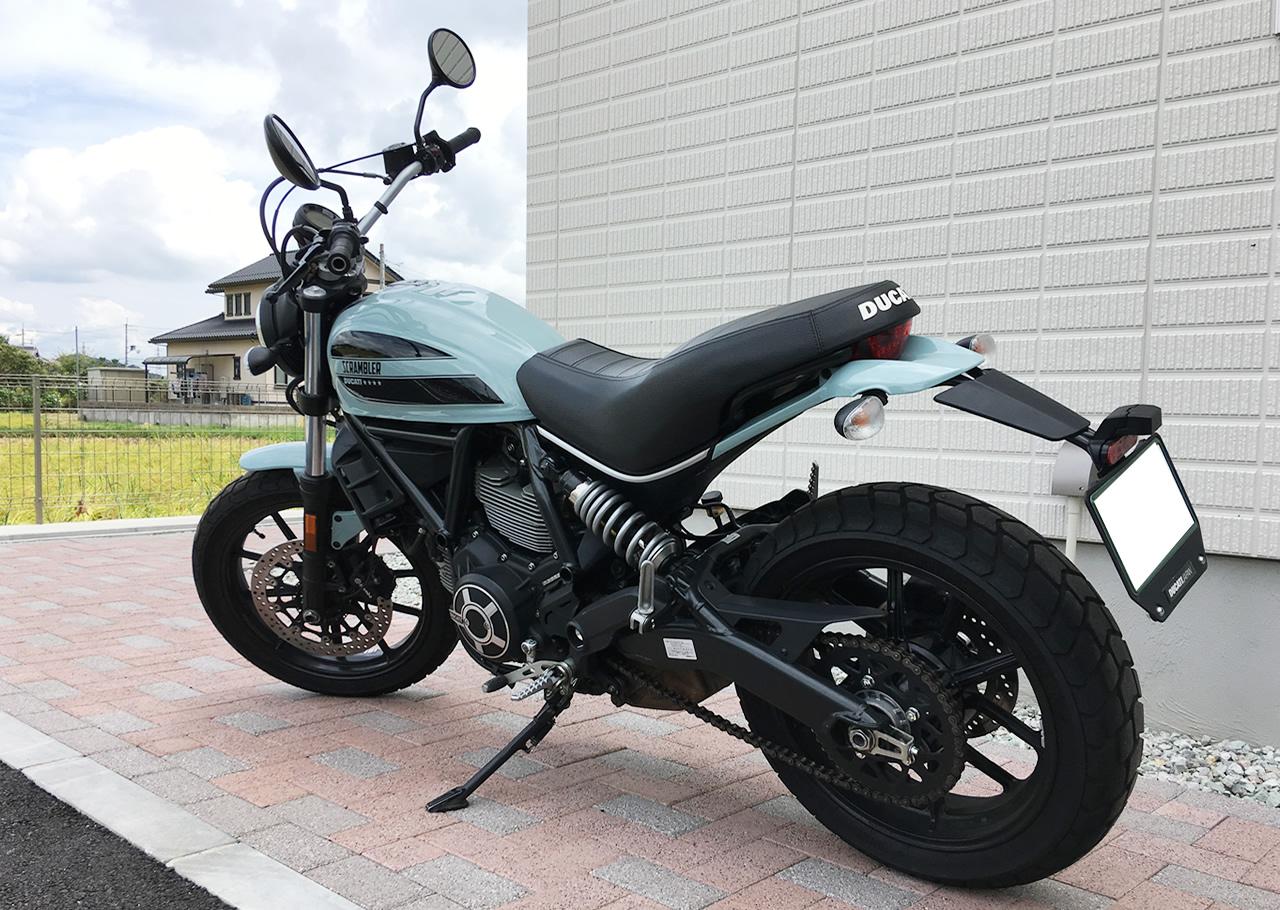 ドゥカティ・スクランブラーsixty2(400cc)のバックフェイスがめっちゃ好み