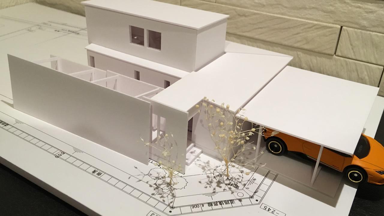 35坪の平屋・住宅模型