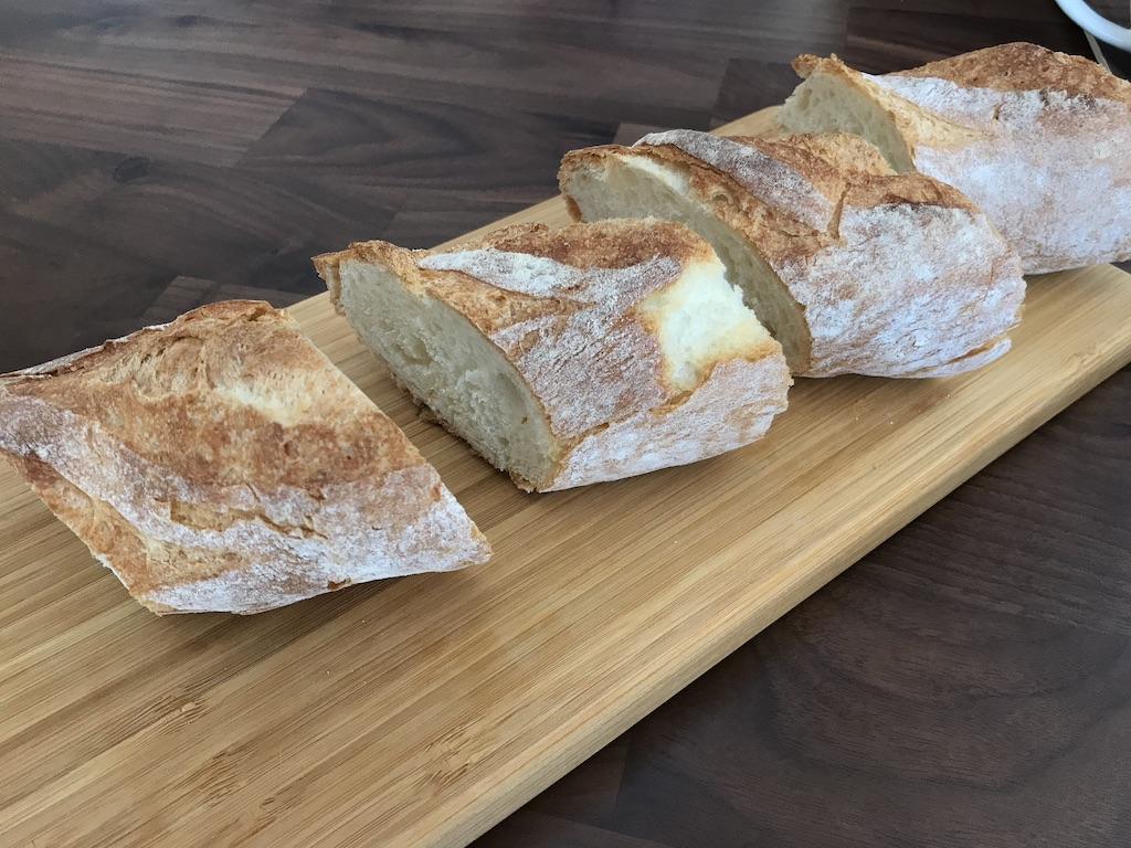 美味しくフランスパンが焼けました