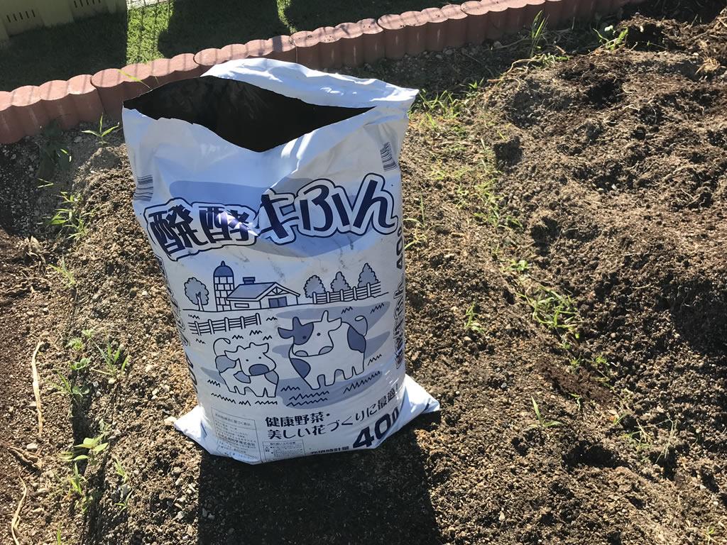 土作りには牛糞堆肥