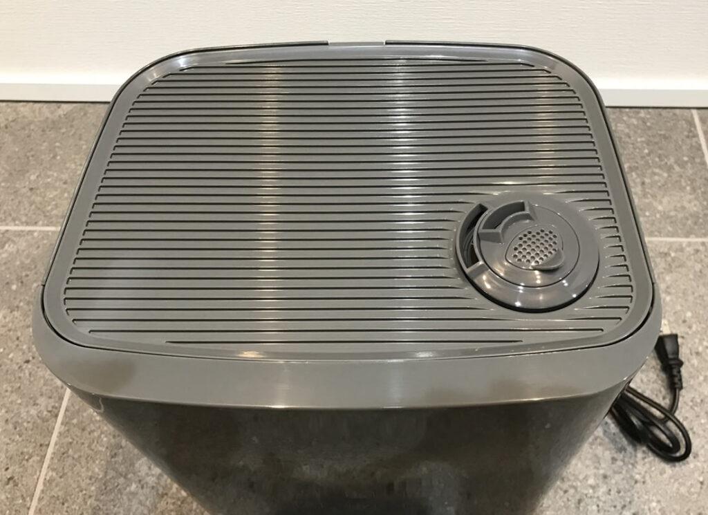 モダンデコの超音波加湿器を上から見る