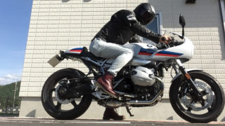 【インプレ】R nineT racer(BMWのカフェレーサー)を3年乗りつづけた結果!ハンドルのポジションきつい?乗りにくい?カスタムは?足つき性はいかに…