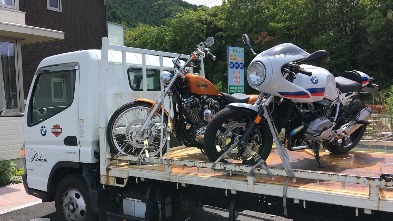 バルコムさんが岡山から納車してくれました。
