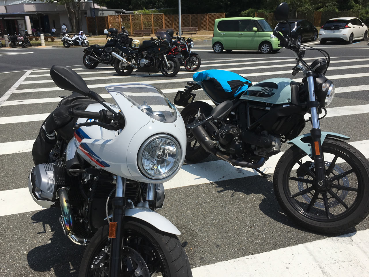葛西PAとバイク