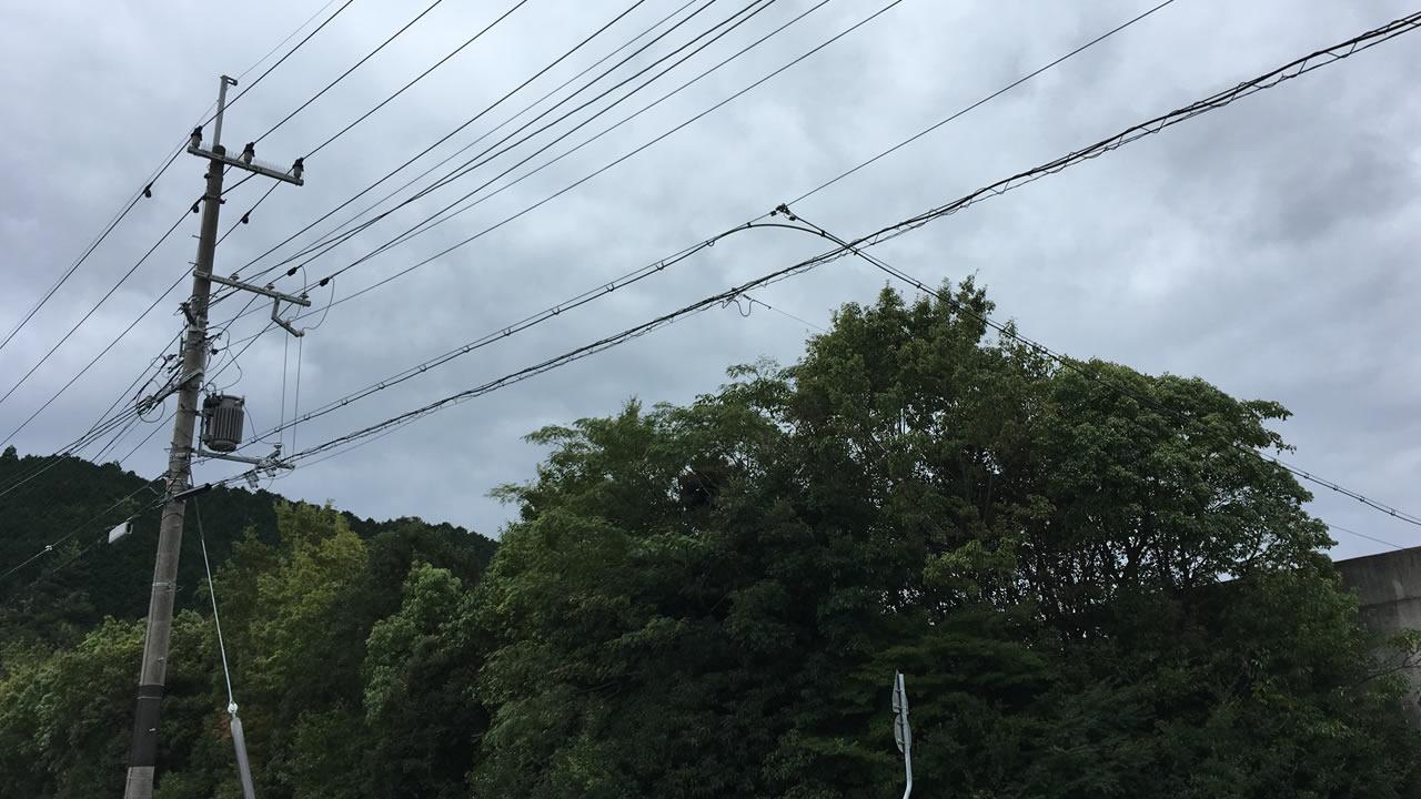 今日の天気は曇り