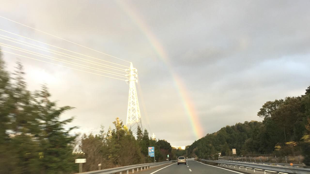 幸福の虹が見えました