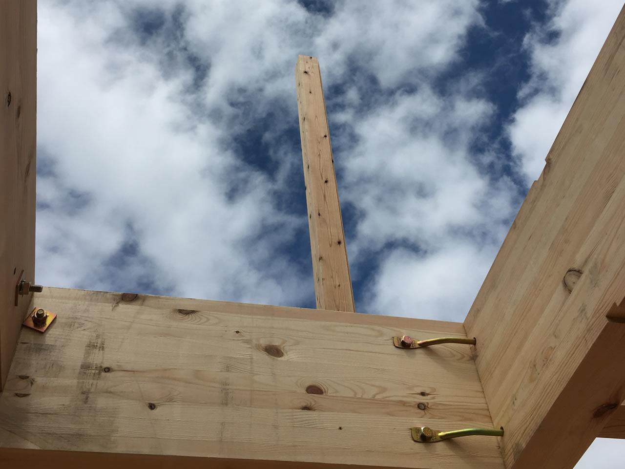 大きな柱はすごい