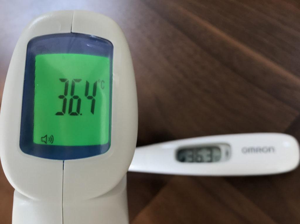 体温測定を実施して誤差をチェック