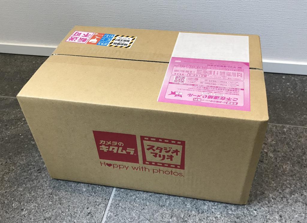カメラのキタムラから荷物が到着