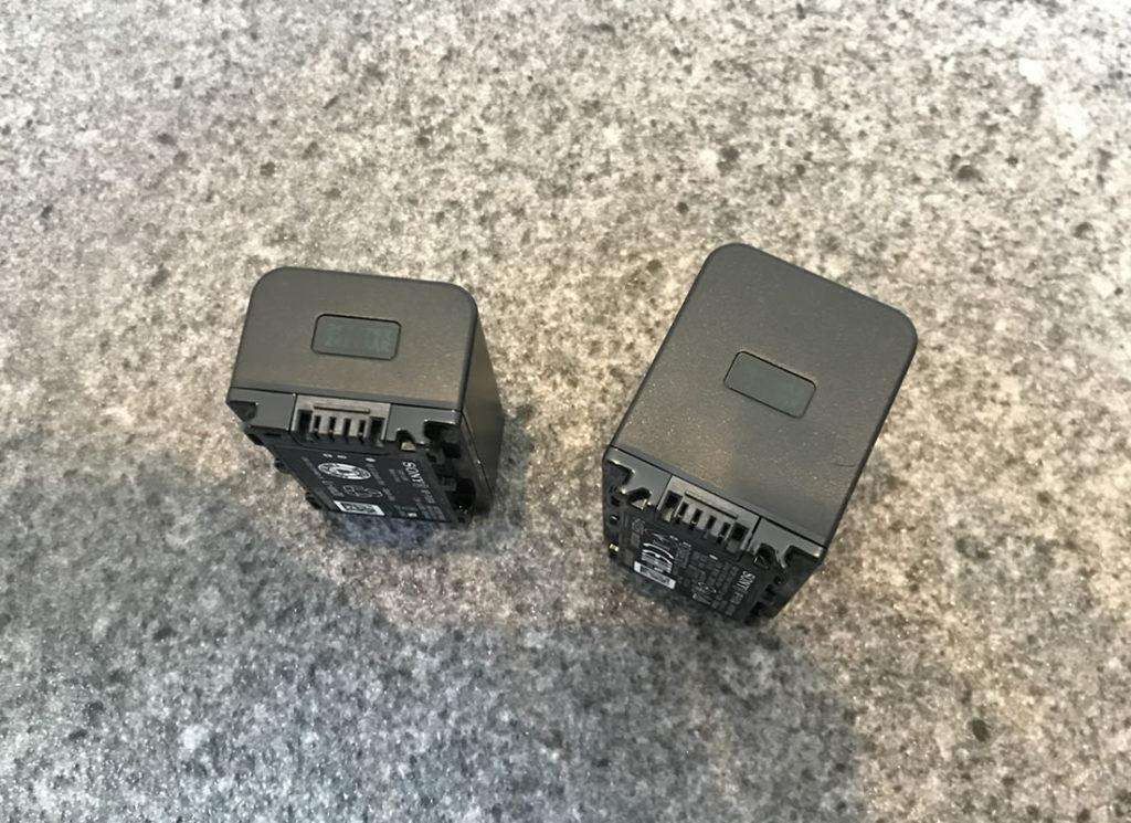 バッテリーサイズの違い