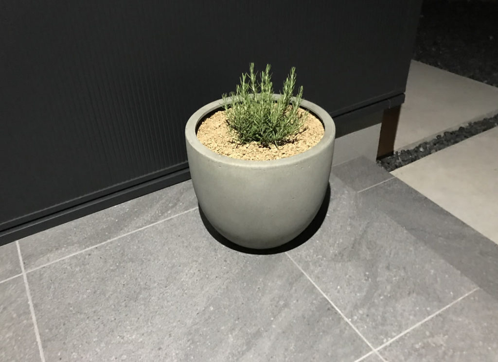 屋外用の鉢は床置きが普通だけど不衛生