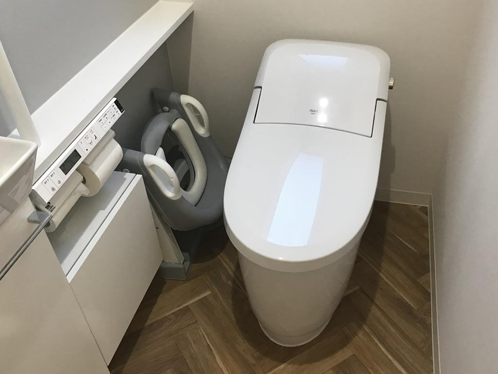 トイレトレーナーは使用しない時は折り畳んでしまえる